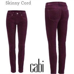 Cabi I Skinny Cord Wine